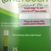 OneTouch Select Plus 25 Glucometer Strips