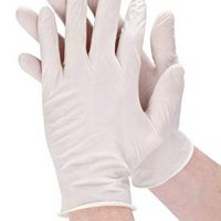 latex medical examination disposable hand gloves