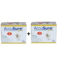 AccuSure Gold 50+50 Test strips (100) Strips