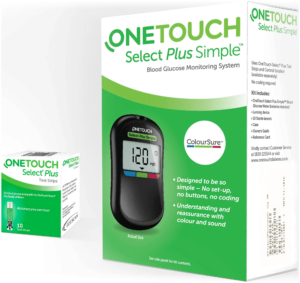 onetouch select simple glucometer strips