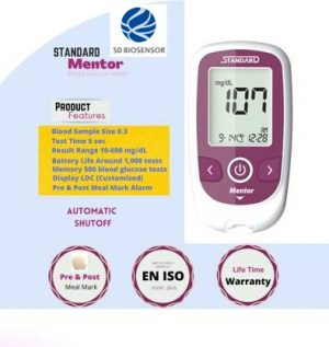 SD Mentor Glucometer with 10 + 50 Strips